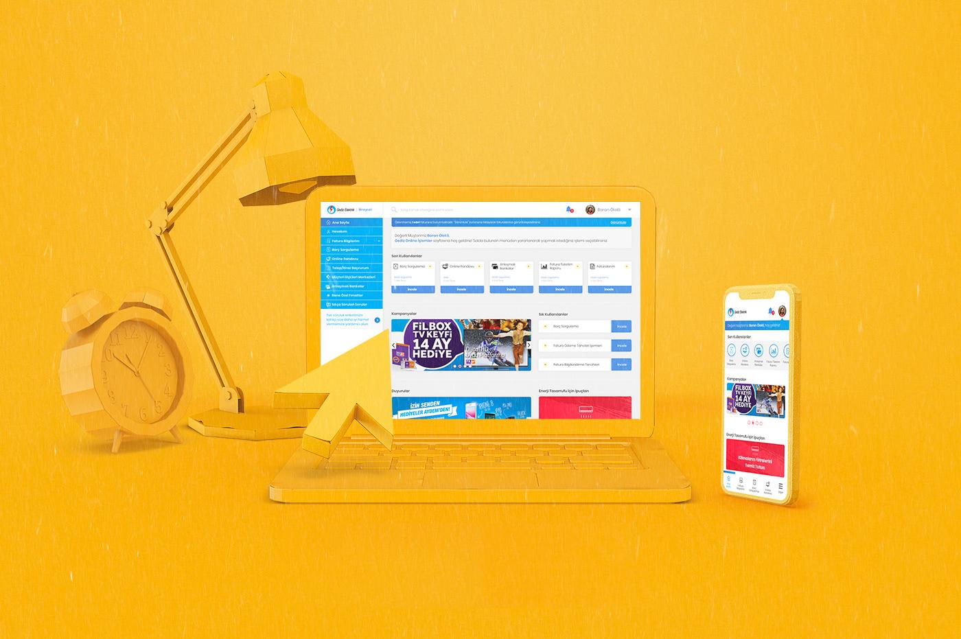 Gediz Perakende Online İşlemler Paneli UX/UI